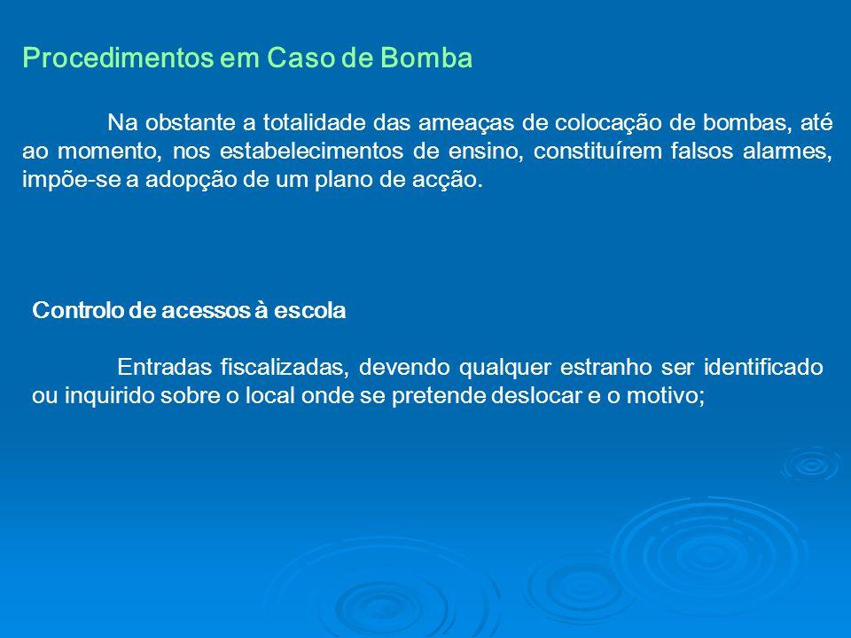Procedimentos em Caso de Bomba