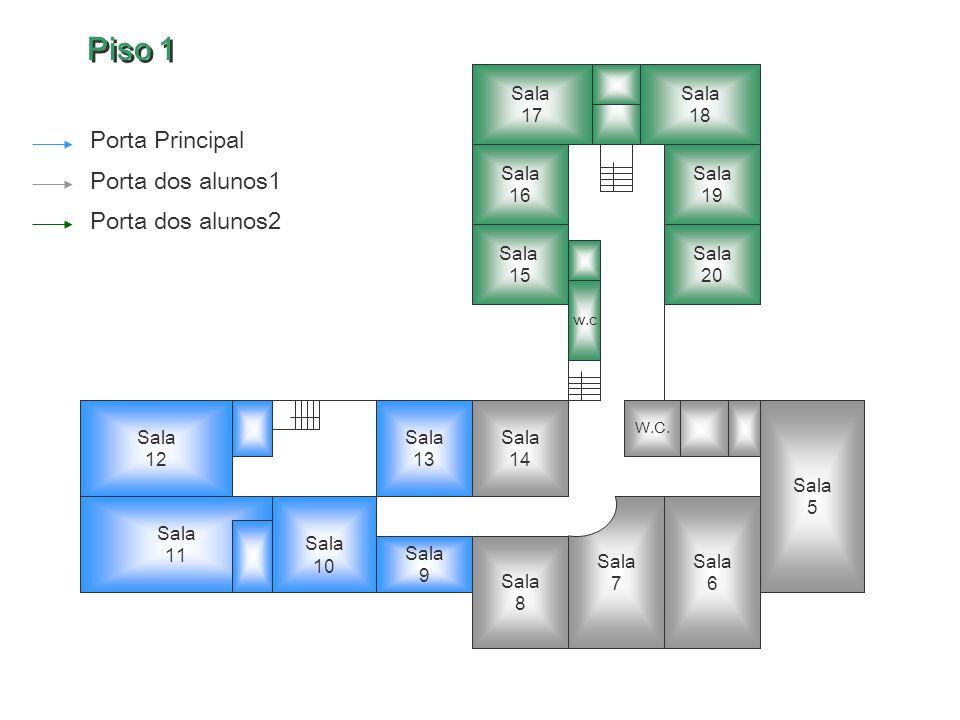 Piso 1 Porta Principal Porta dos alunos1 Porta dos alunos2 Sala 17