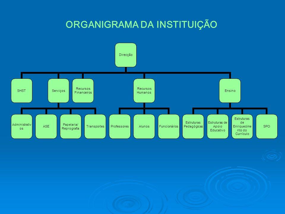 ORGANIGRAMA DA INSTITUIÇÃO