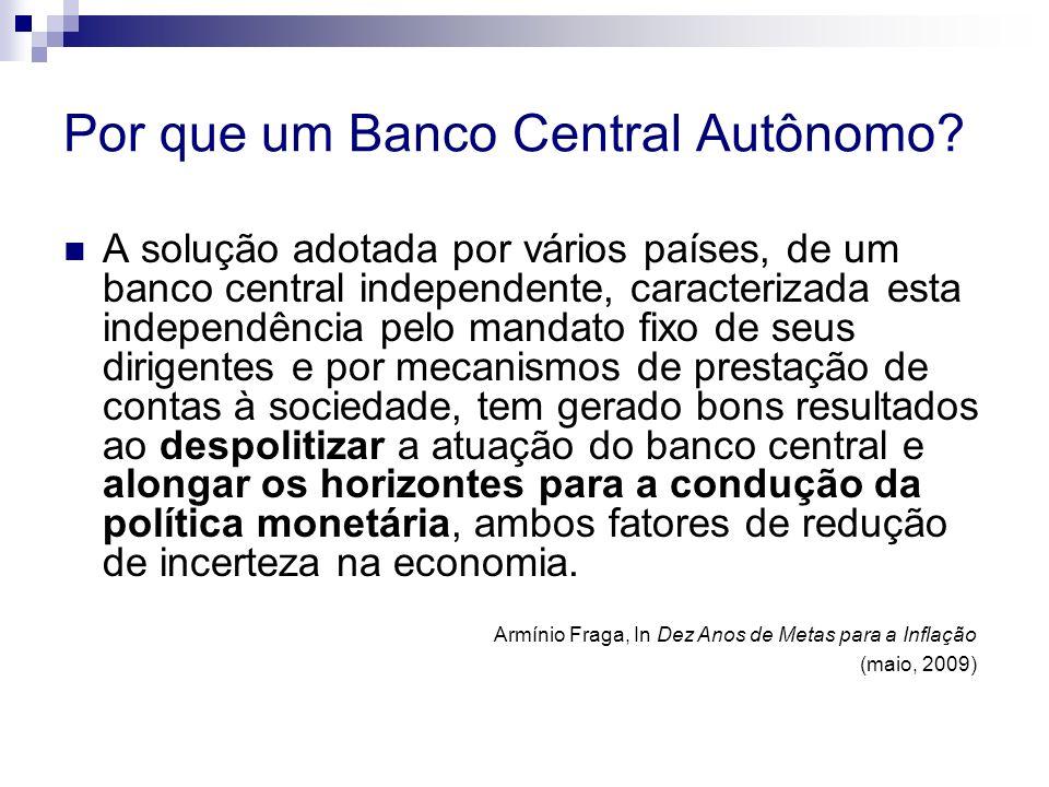 Por que um Banco Central Autônomo