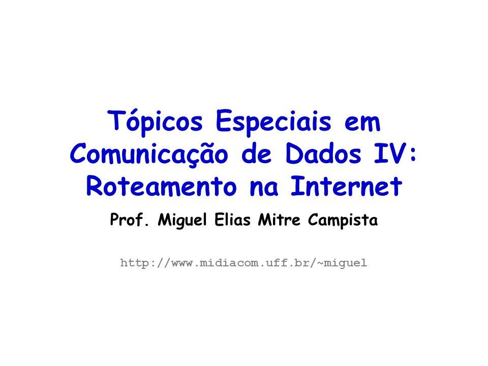 Tópicos Especiais em Comunicação de Dados IV: Roteamento na Internet