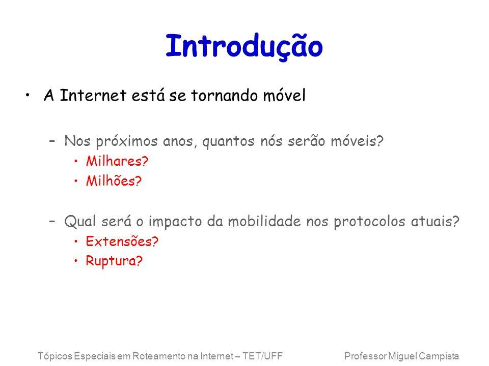 Introdução A Internet está se tornando móvel