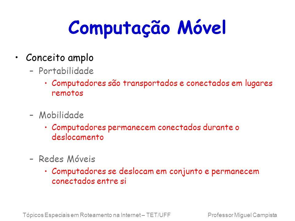 Computação Móvel Conceito amplo Portabilidade Mobilidade Redes Móveis