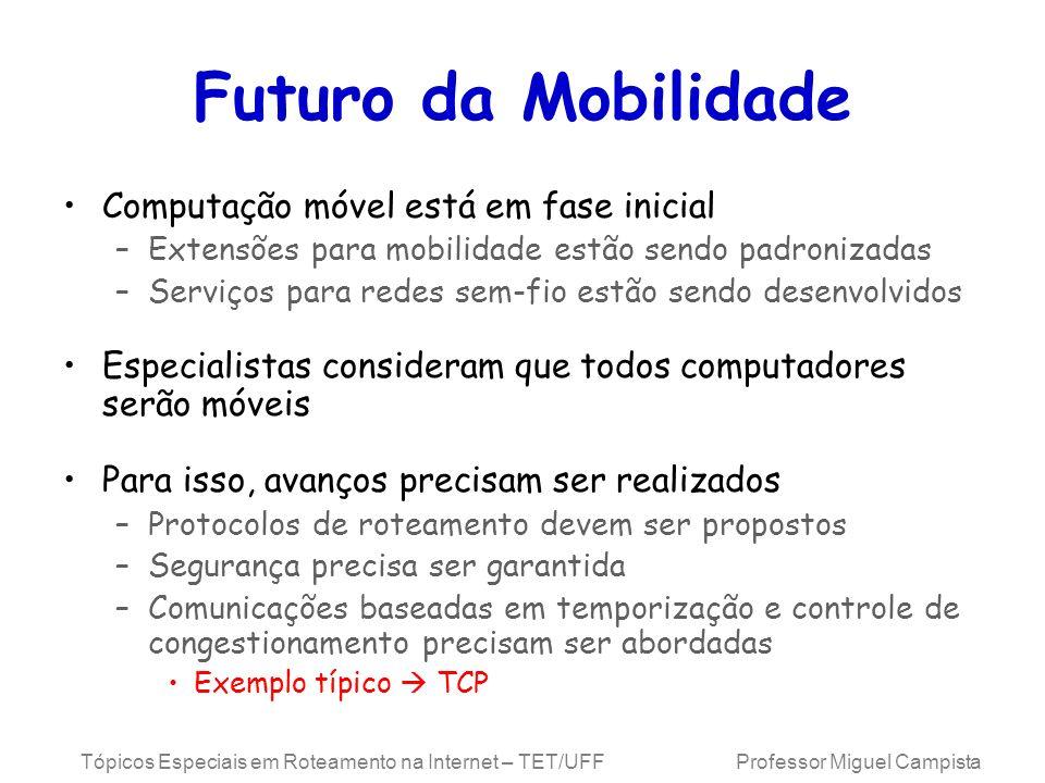 Futuro da Mobilidade Computação móvel está em fase inicial