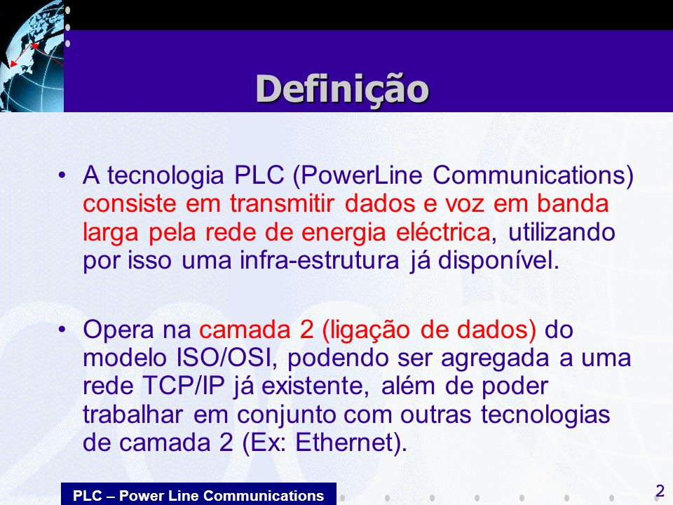 PLC – Power Line Communications