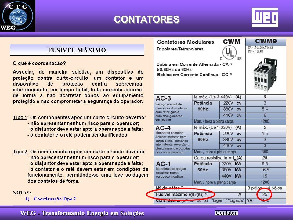 CONTATORES FUSÍVEL MÁXIMO O que é coordenação
