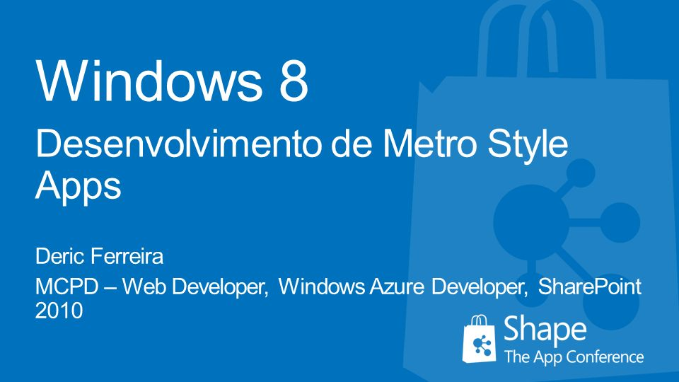 Windows 8 Desenvolvimento de Metro Style Apps Deric Ferreira