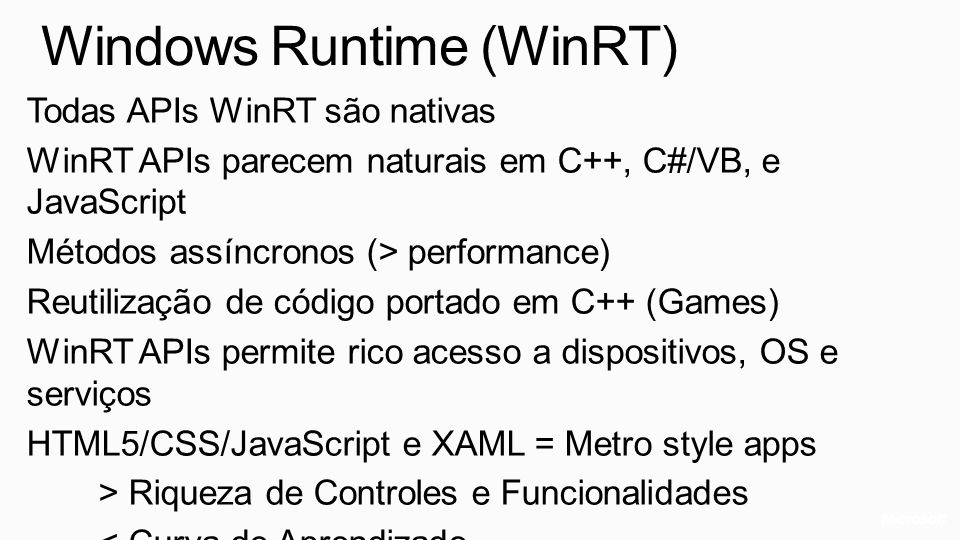 Windows Runtime (WinRT)
