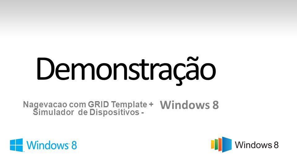 Nagevacao com GRID Template + Simulador de Dispositivos -