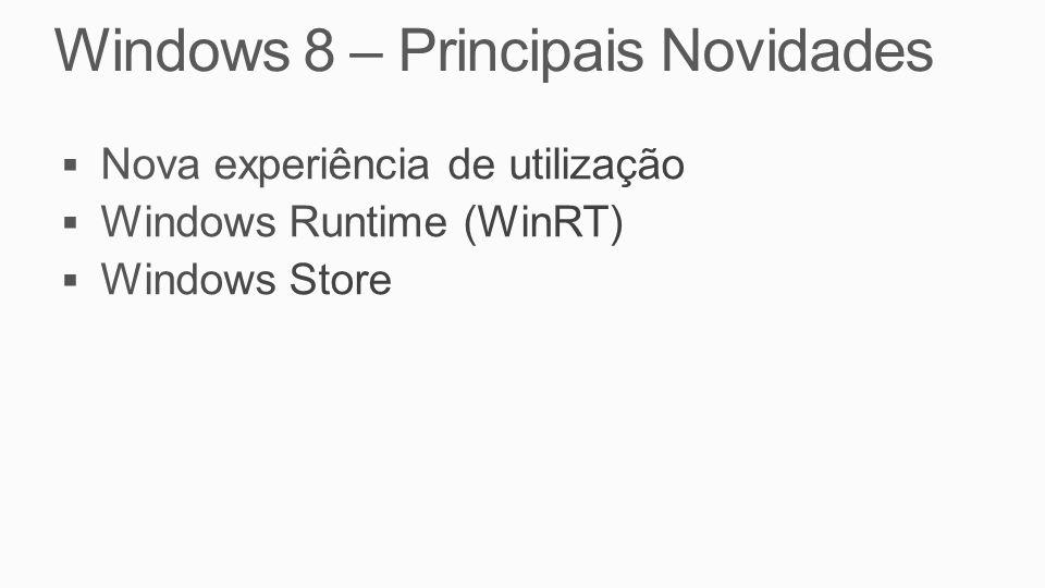 Windows 8 – Principais Novidades