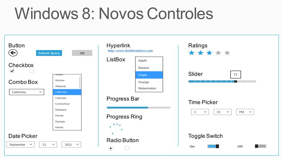 Windows 8: Novos Controles