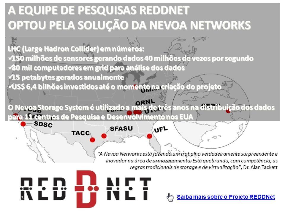 A EQUIPE DE PESQUISAS REDDNET OPTOU PELA SOLUÇÃO DA NEVOA NETWORKS