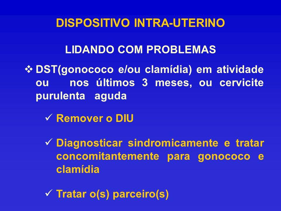 DISPOSITIVO INTRA-UTERINO LIDANDO COM PROBLEMAS