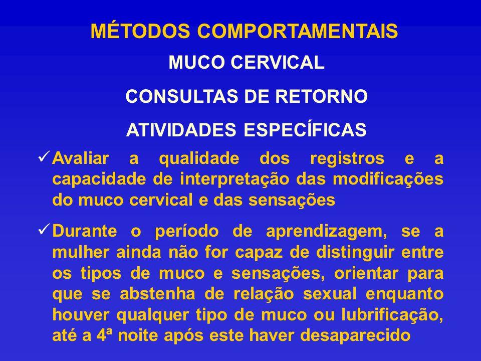 MÉTODOS COMPORTAMENTAIS ATIVIDADES ESPECÍFICAS