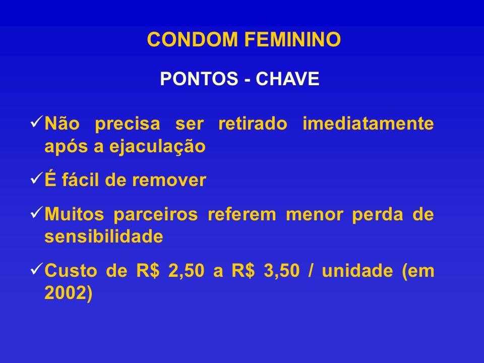 CONDOM FEMININO PONTOS - CHAVE