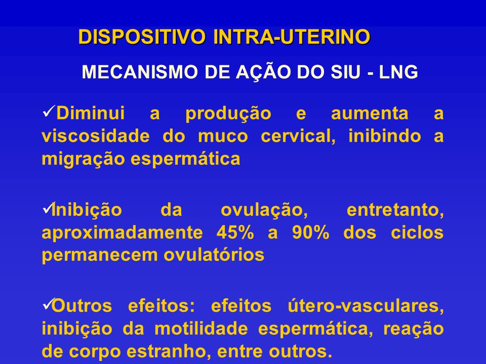 MECANISMO DE AÇÃO DO SIU - LNG