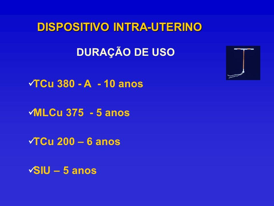 DURAÇÃO DE USO DISPOSITIVO INTRA-UTERINO TCu 380 - A - 10 anos