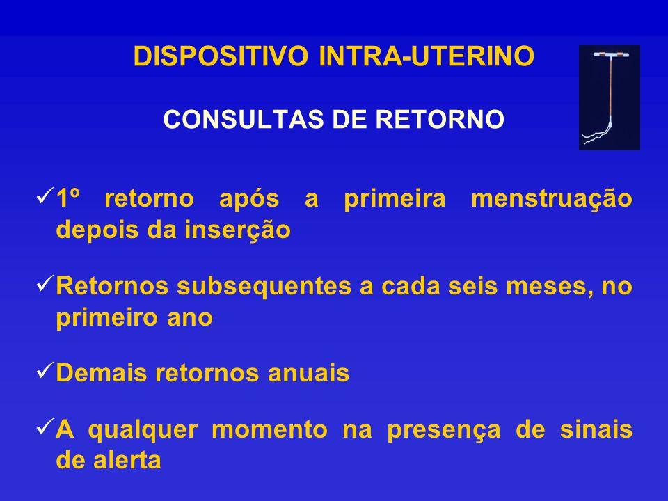 DISPOSITIVO INTRA-UTERINO CONSULTAS DE RETORNO