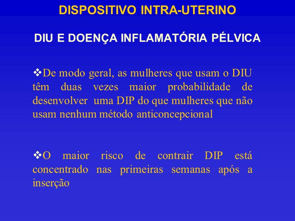 DISPOSITIVO INTRA-UTERINO DIU E DOENÇA INFLAMATÓRIA PÉLVICA