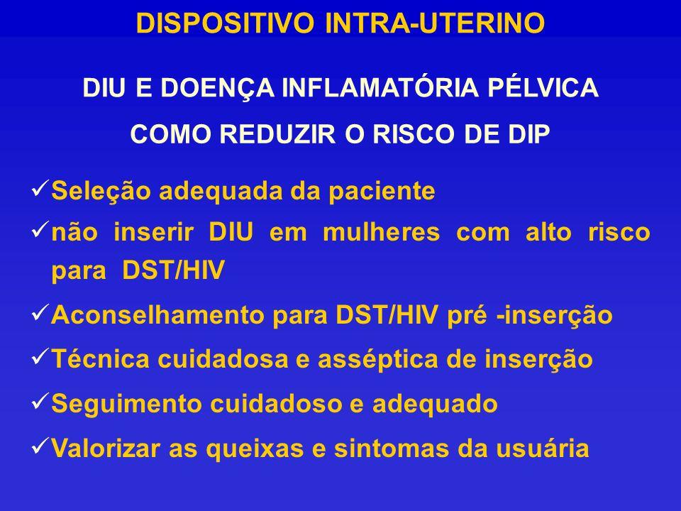 COMO REDUZIR O RISCO DE DIP