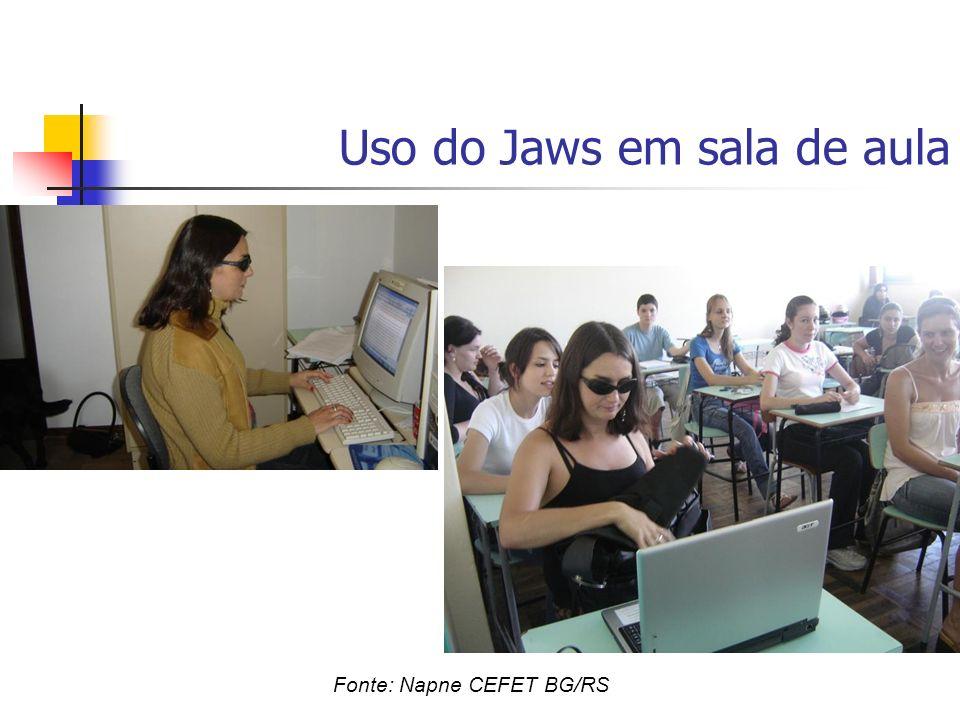 Uso do Jaws em sala de aula