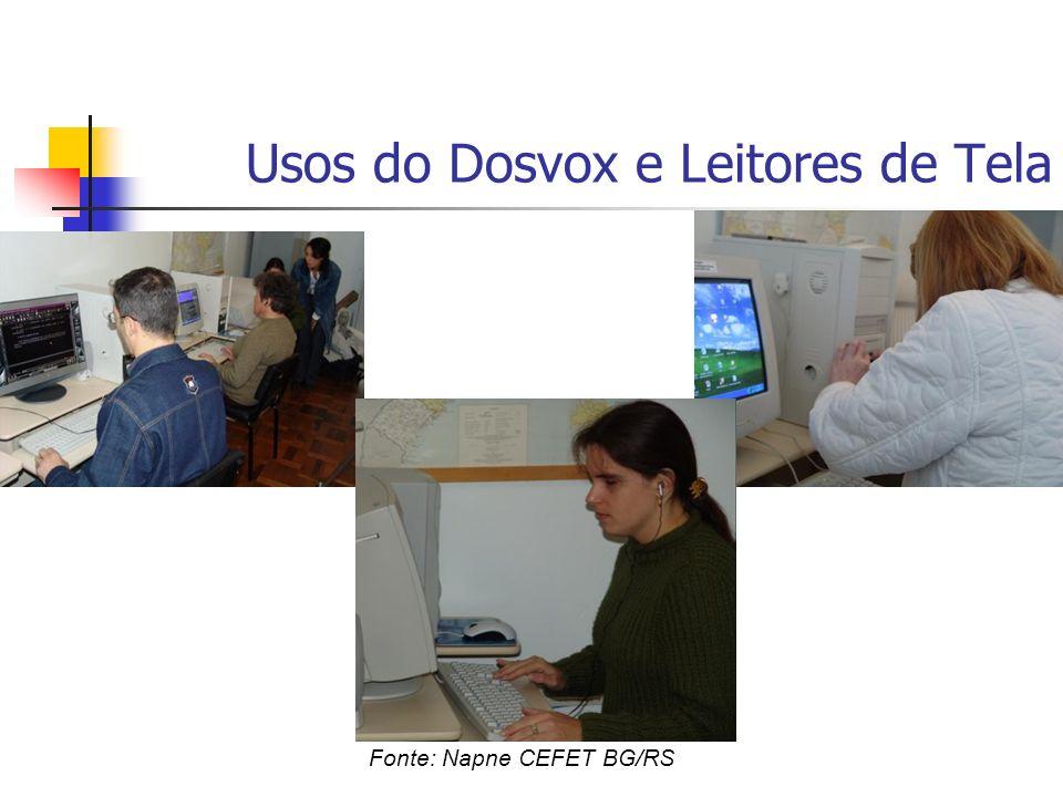 Usos do Dosvox e Leitores de Tela