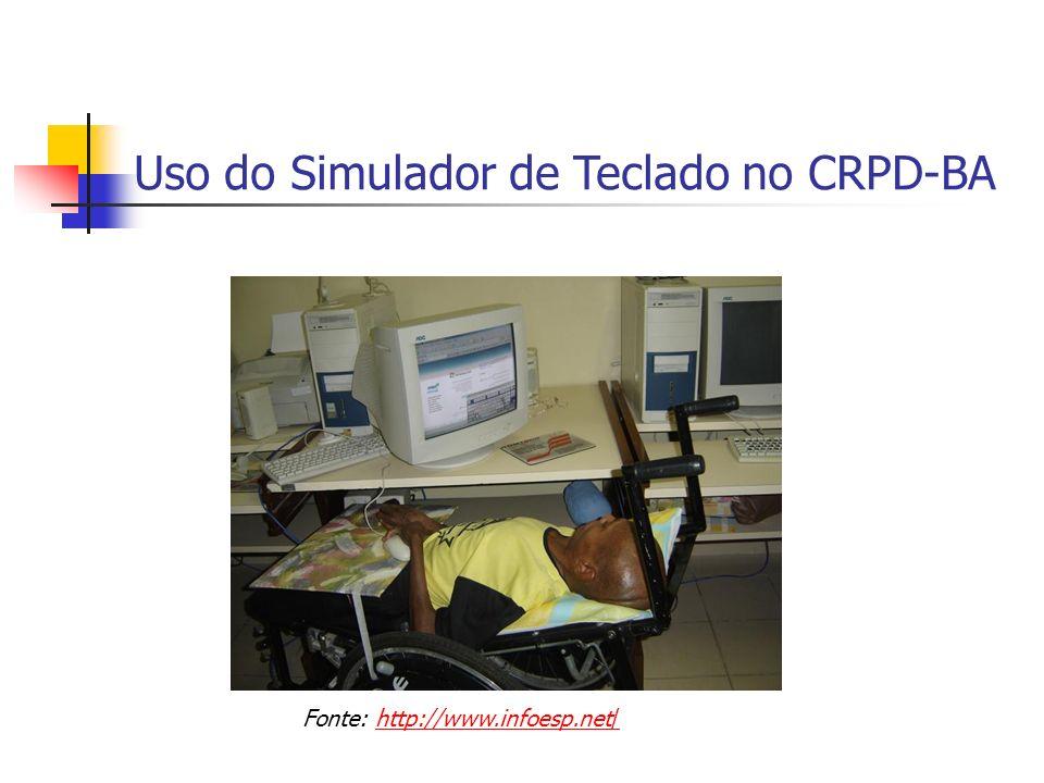 Uso do Simulador de Teclado no CRPD-BA