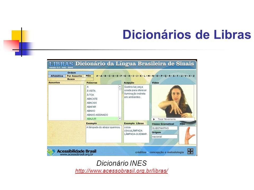 Dicionários de Libras Dicionário INES