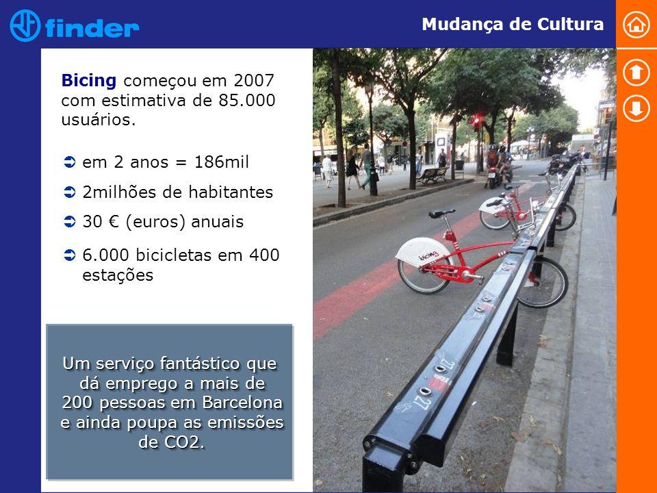 Bicing começou em 2007 com estimativa de 85.000 usuários.
