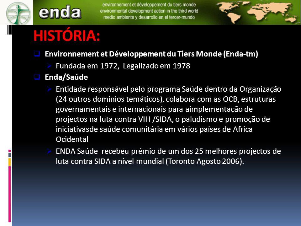 HISTÓRIA: Environnement et Développement du Tiers Monde (Enda-tm)