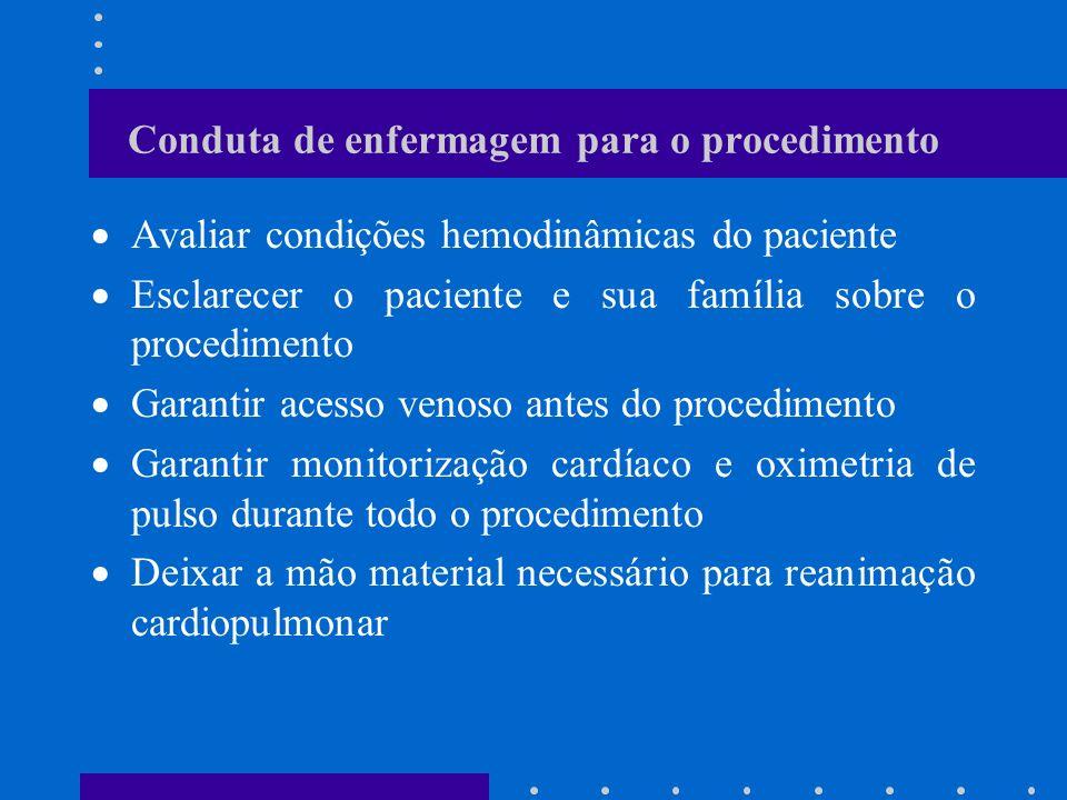 Conduta de enfermagem para o procedimento