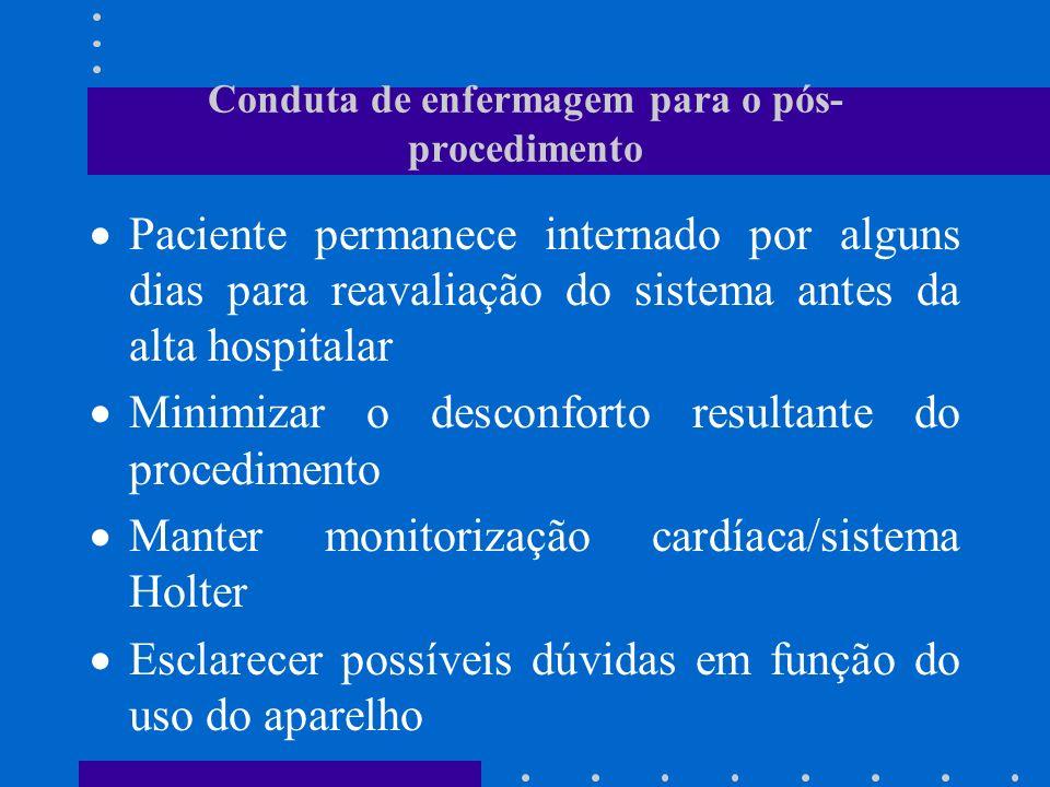 Conduta de enfermagem para o pós-procedimento