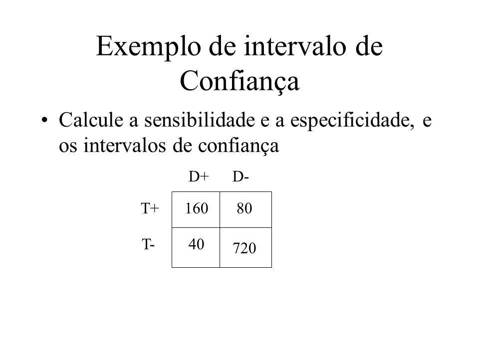 Exemplo de intervalo de Confiança