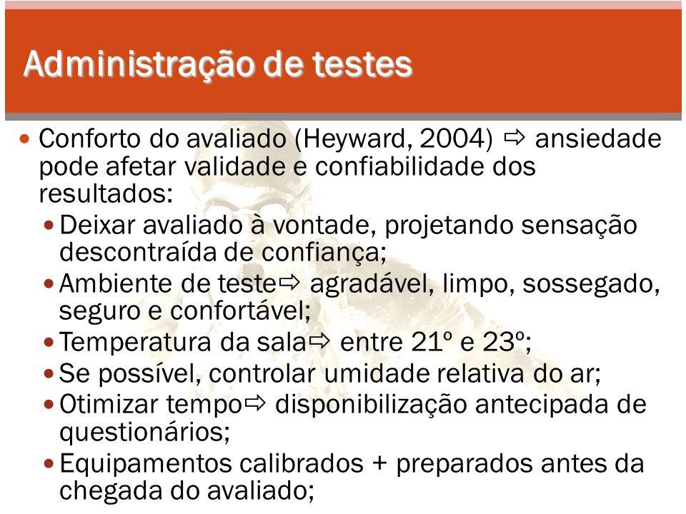 Administração de testes