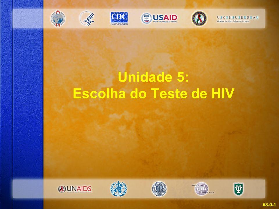 Unidade 5: Escolha do Teste de HIV