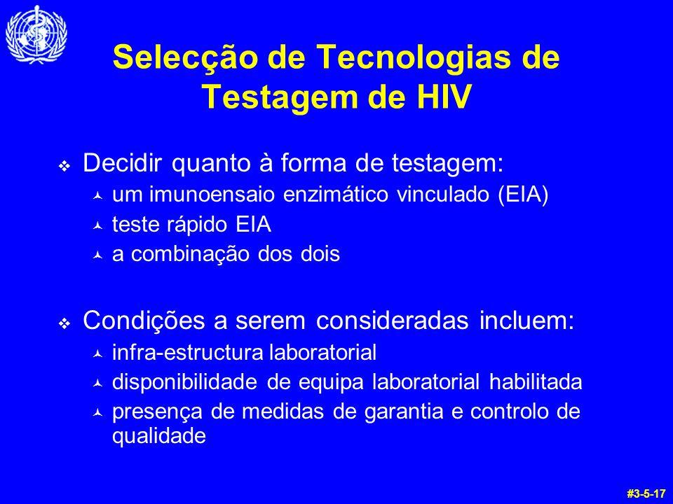 Selecção de Tecnologias de Testagem de HIV