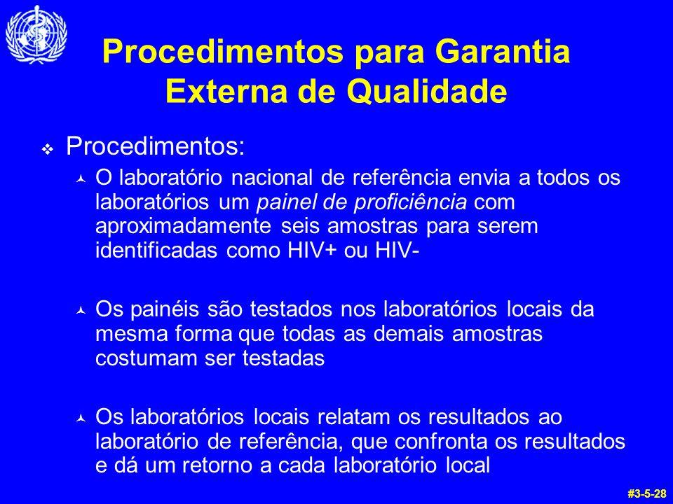 Procedimentos para Garantia Externa de Qualidade
