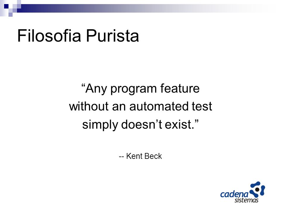 without an automated test