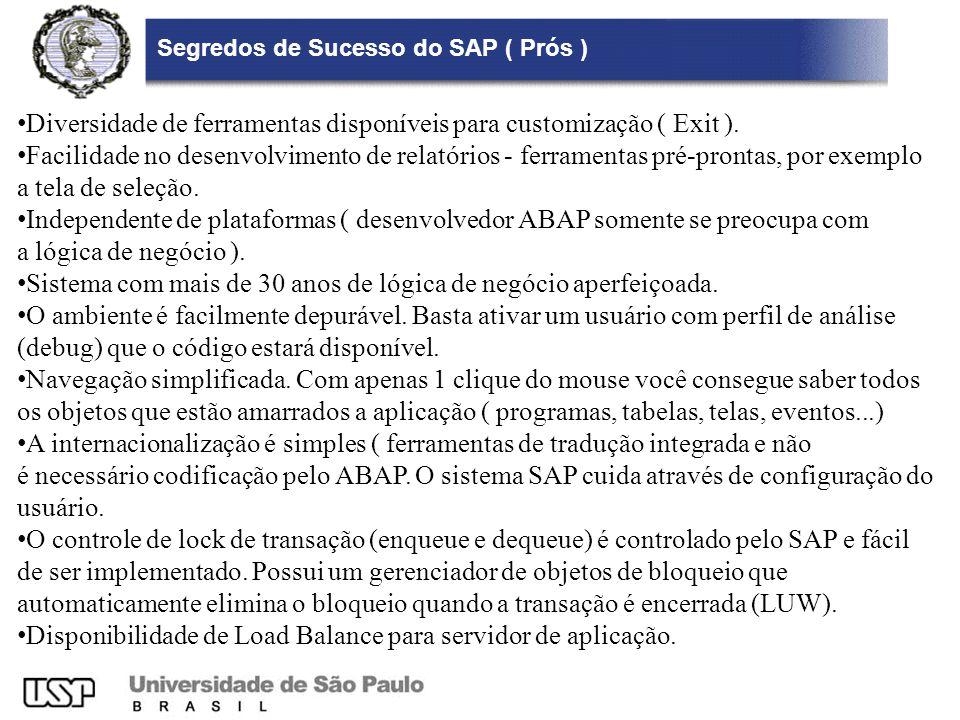 Segredos de Sucesso do SAP ( Prós )
