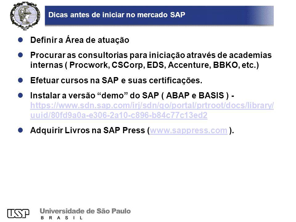 Dicas antes de iniciar no mercado SAP