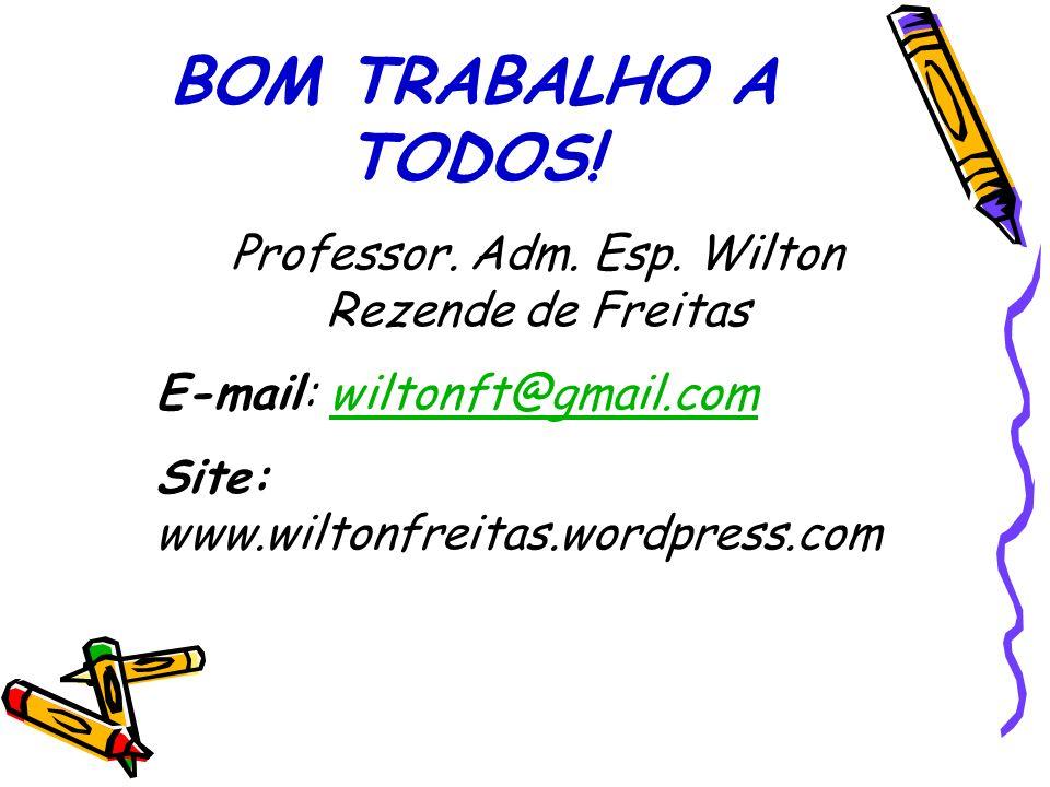 Professor. Adm. Esp. Wilton Rezende de Freitas