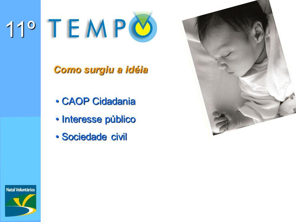 11º Como surgiu a idéia CAOP Cidadania Interesse público