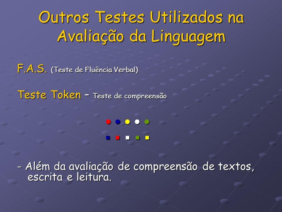Outros Testes Utilizados na Avaliação da Linguagem