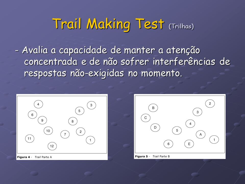 Trail Making Test (Trilhas)