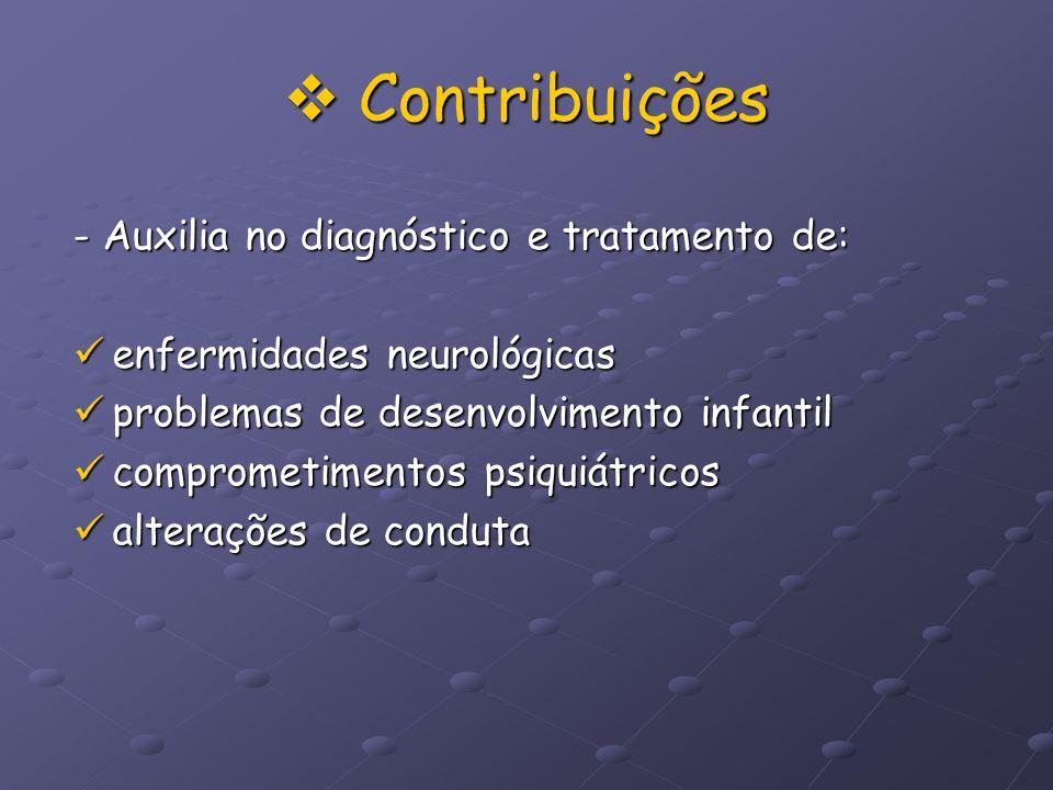 Contribuições - Auxilia no diagnóstico e tratamento de: