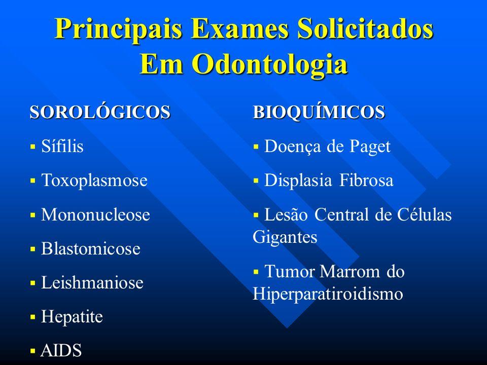 Principais Exames Solicitados Em Odontologia