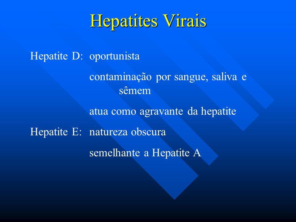Hepatites Virais Hepatite D: oportunista