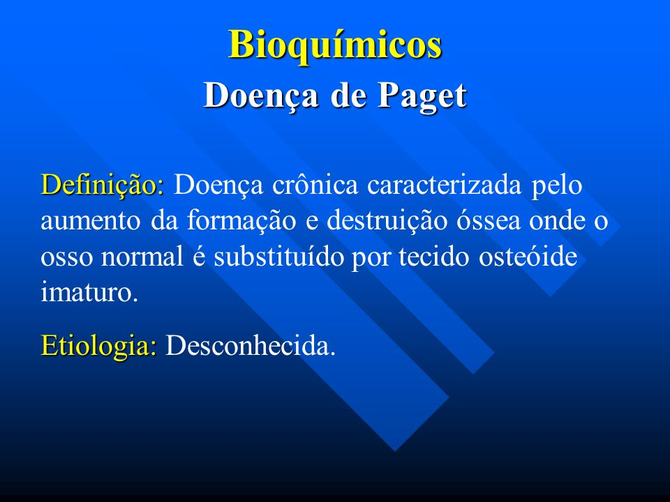 Bioquímicos Doença de Paget