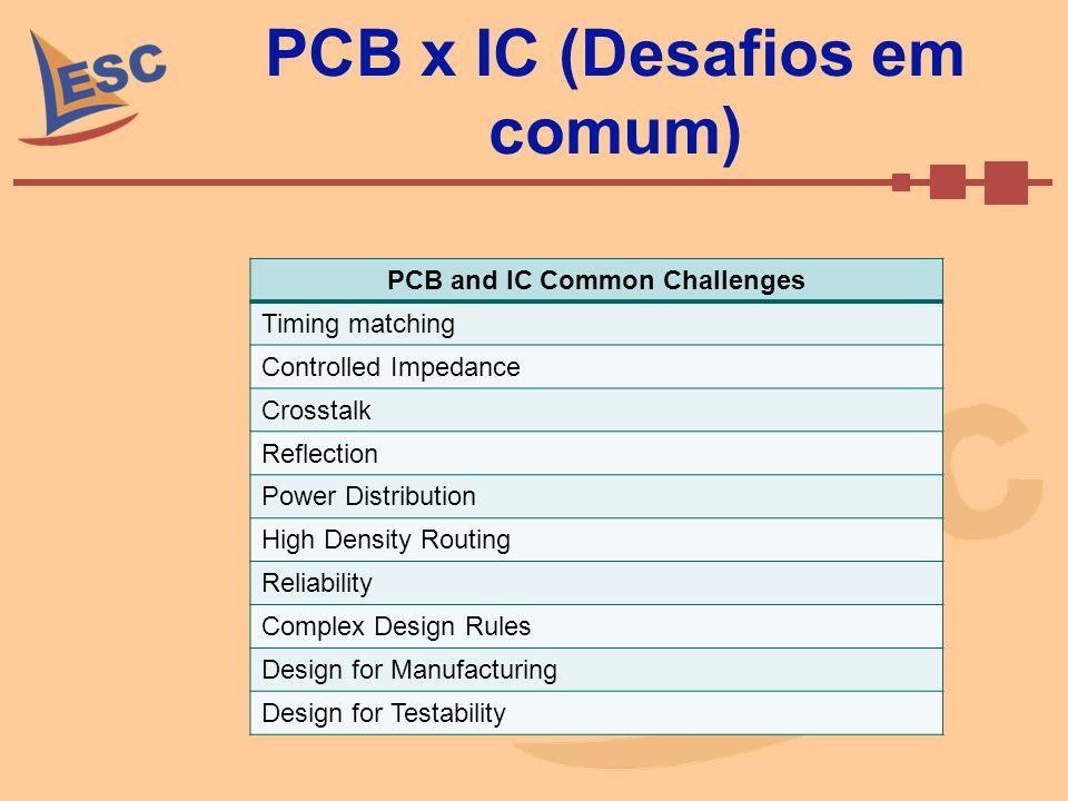 PCB x IC (Desafios em comum)