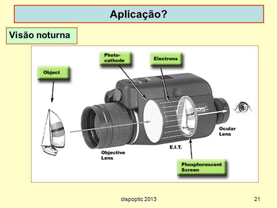 Aplicação Visão noturna E.I.T. = Enhanced Image Tube dispoptic 2013